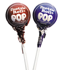 Image of Chocolate & Grape Tootsie Pops Combo Pack (2 x 50 ct. Bag) Packaging